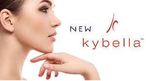 Kybella logo with woman chin profile